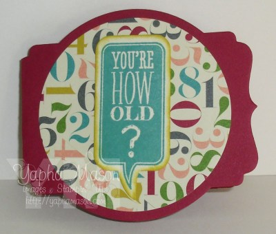 You're How Old? card by Yapha