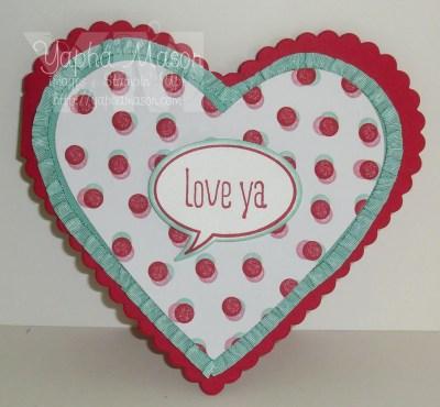 Love Ya heart card by Yapha
