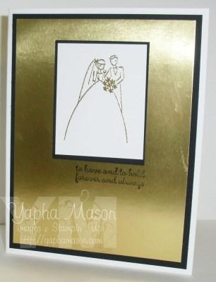 Clean & Elegant Wedding Card by Yapha Mason
