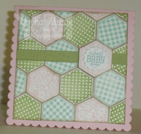Six-Sided Sampler Baby Card by Yapha
