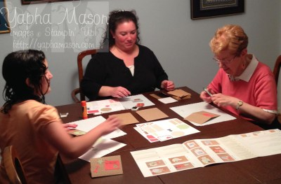 Three generations stamping together