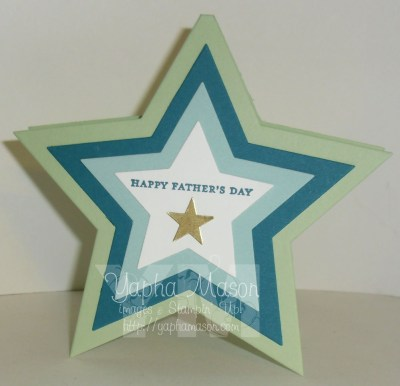 Father's Day Star Card by Yapha Mason