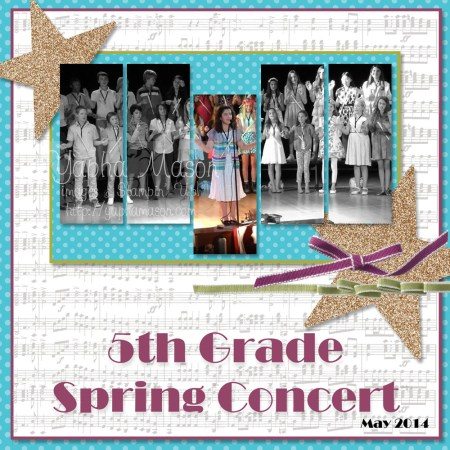 Spring Concert MDS Scrapbook Page by Yapha