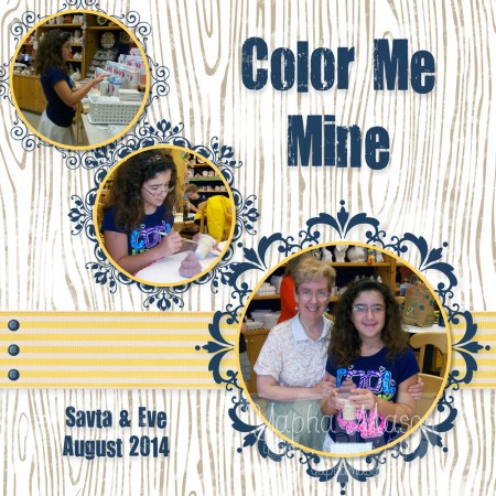 Color Me Mine Scrapbook Page by Yapha