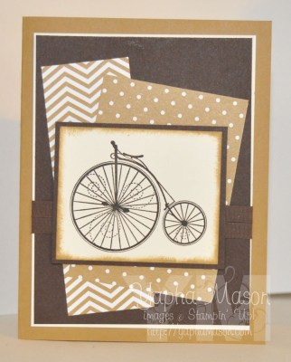 Sepia Bicycle Card by Yapha
