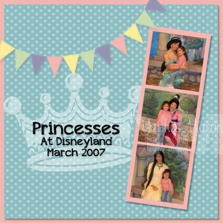 Princess Scrapbook Page by Yapha