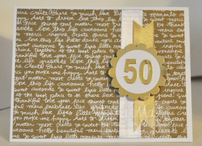 50th Anniversary Card by Yapha