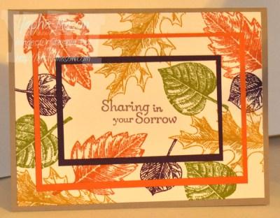 Fall Leaves Sympathy Card by Yapha