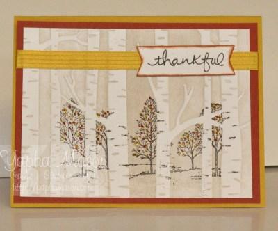 Thankful Woodland Trees by Yapha