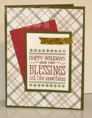 Plaid Christmas Card by Yapha