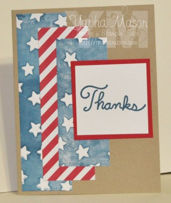 Another Patriotic Thank You by Yapha