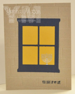 Menorah in the Window by Yapha