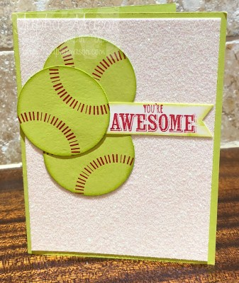 Dazzling Softball Card by Yapha