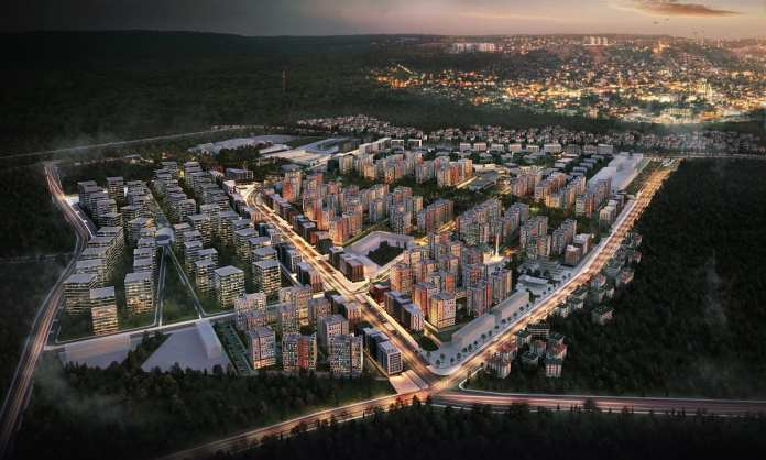 Sur Yapı'nın Antalya Projesi'nin Park Etabında İnşaat Sona Yaklaşıyor