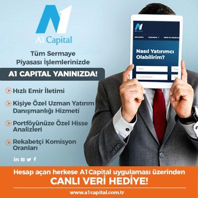 A1 Capital Tüm Sermaye Piyasası İşlemlerinizde Yanınızda