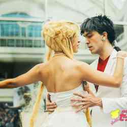 "AzeCon 3, avqust 2015, Anime: ""Sailor Moon"", Personaj: Kou; Princess Serenity ile tragik duet."
