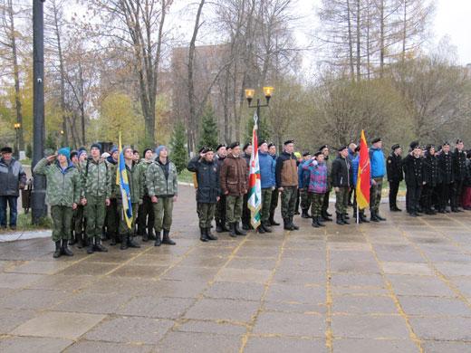 Построение военнно-патриотических отрядов участников Слёта