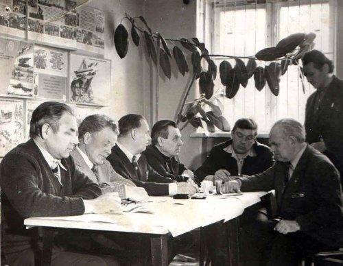 Заседание совета стрелкового клуба 1978 г.