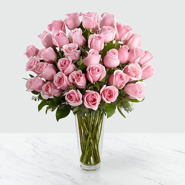 36 Long Stem Pink Rose