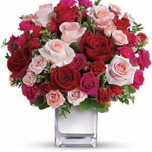 Love-Medley-Bouquet-with-Red-Roses