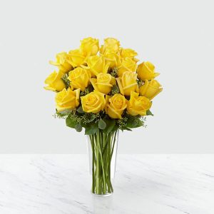 18 Long Stem Yellow Roses