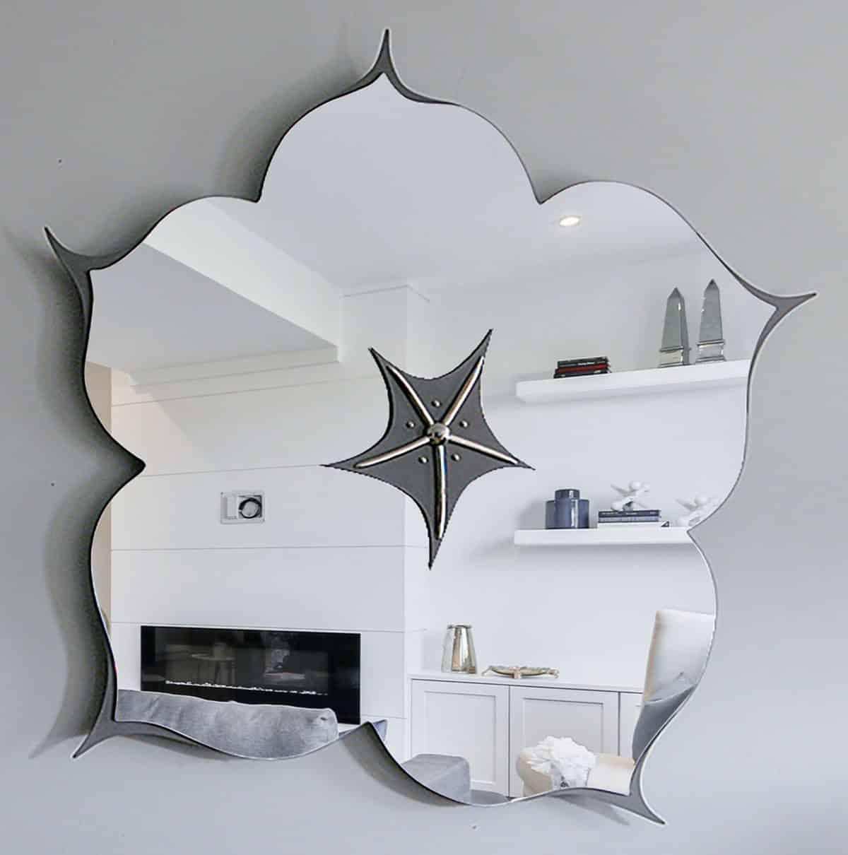 Flower Mirror by Yarbough Design