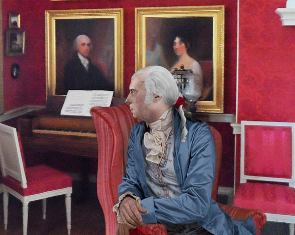 James Madison in the Drawing Room at Montipelier Print based upon his Life Mask