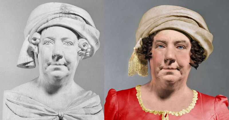 Dolley Madison Real Face Life Mask