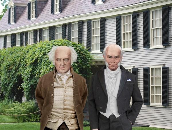 John Adams and Congressman John Quincy Adams at Peacefield