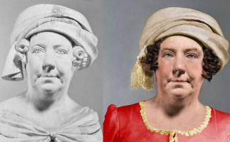 The Life Mask Face of Dolley Madison – A Photoshop Reconstruction