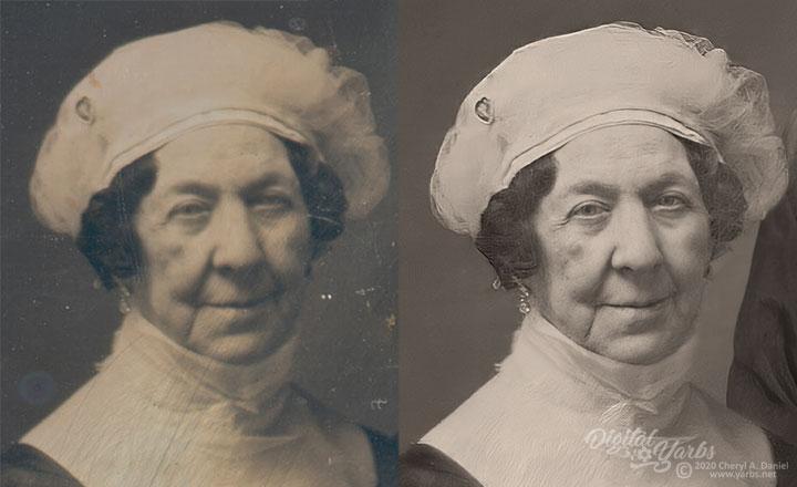 Dolley Madison Enhanced Daguerreotype