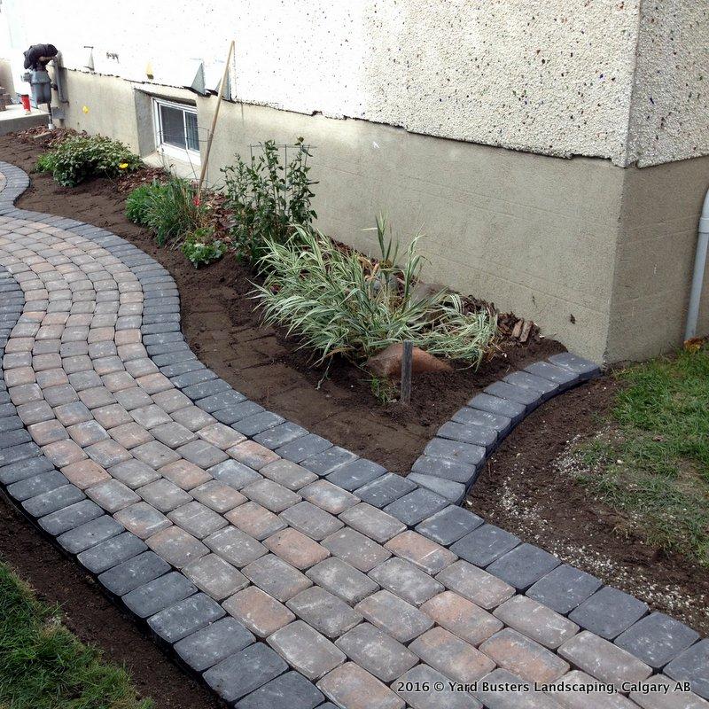 patio calgary paving stones yard