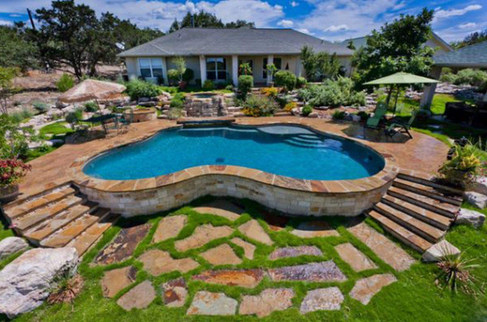 20 Amazing Backyard Pool Designs - YardMasterz.com on Modern Backyard Ideas With Pool id=31313