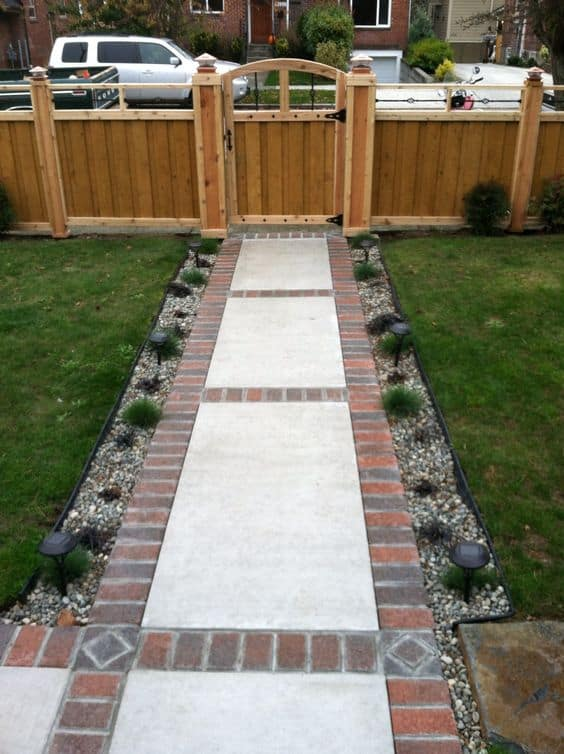 15 Front Yard Walkway Ideas | Page 7 of 15 | Yard Surfer on Concrete Front Yard Ideas id=62824