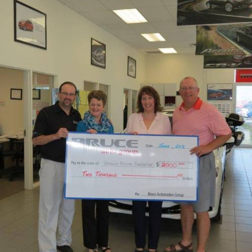 The Yarmouth Hospital Foundation received a recent donation of $2,000 from Bruce Honda Auto Group. A sincere thank you to Bruce Honda Auto Group for their continued support for community health care! L to R: Derek Boudreau, General Manager, Bruce Honda; Paulette Sweeney-Goodwin, Managing Director, Yarmouth Hospital Foundation; Mary Surette, Development Officer, Yarmouth Hospital Foundation; Robert Thibault, Vice President, Bruce Honda.