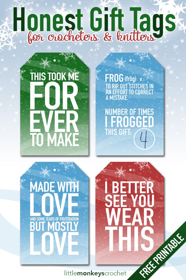 honest gift tags for crocheters free printable