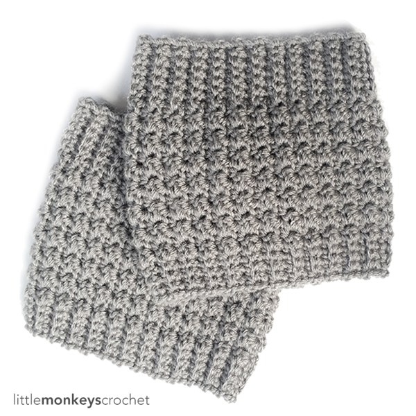 Comfy Squares Textured Boot Cuffs
