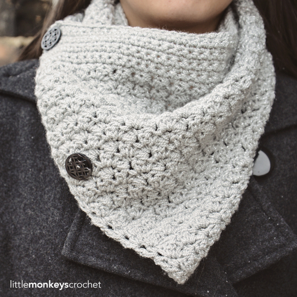 Sparkly Buttoned Cowl