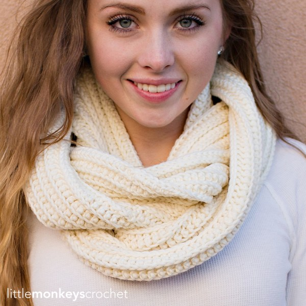 Super Plush Faux-Knit Infinity Scarf