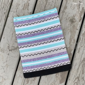 Zig Zag Bag | Backpack Cinch Bag Crochet Pattern by Yarn + Chai