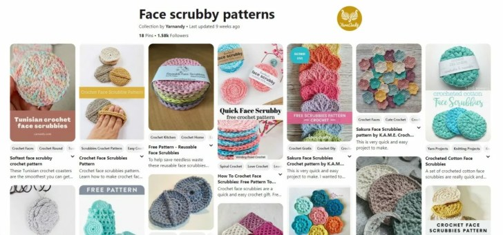 Face scrubbies crochet patterns pinterest board