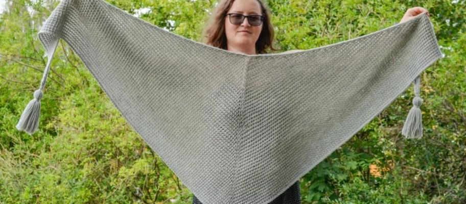 tunisian simple shawl 3
