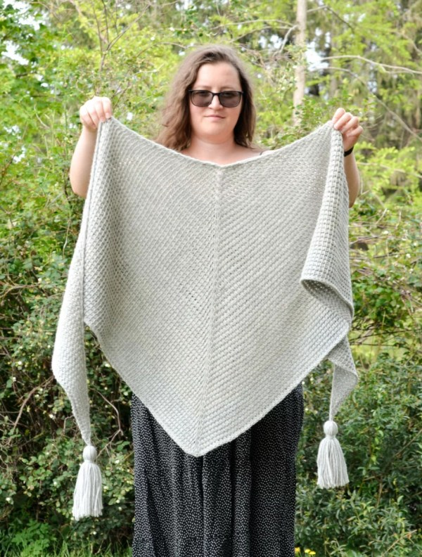 tunisian simple shawl 4