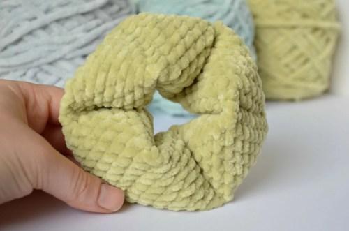 Amigurumi flexagon - crochet fidget toy twisted