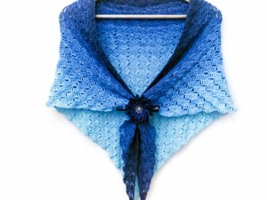Callatis - free C2C triangle shawl crochet pattern product image