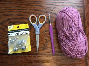 crochet cord bracelet supplies