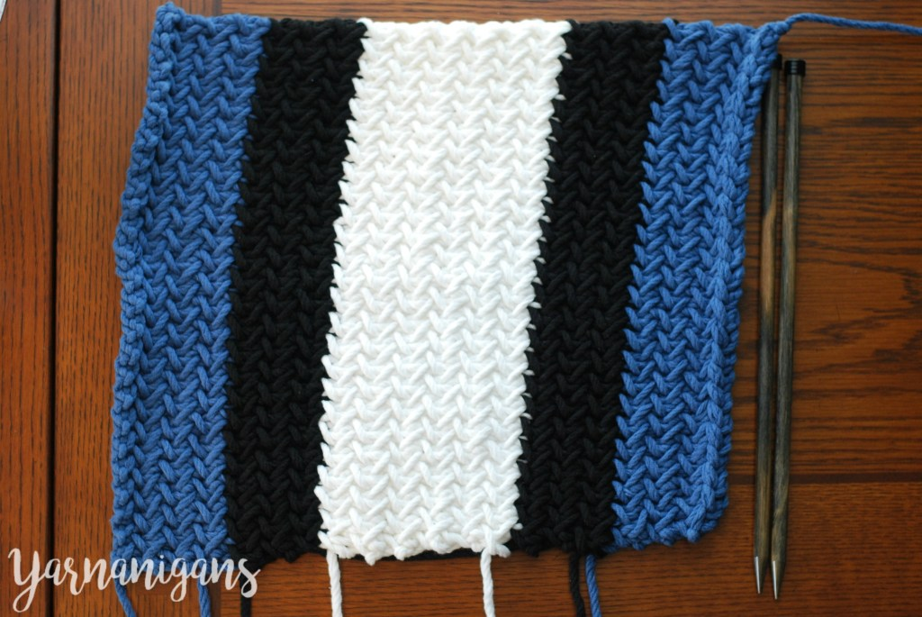 Knit Herringbone Throw Pillow Yarnanigans