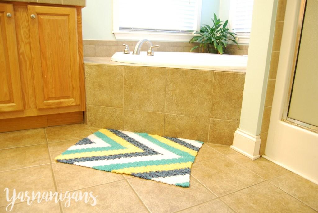 crochet rug calming tides bath rug free crochet pattern