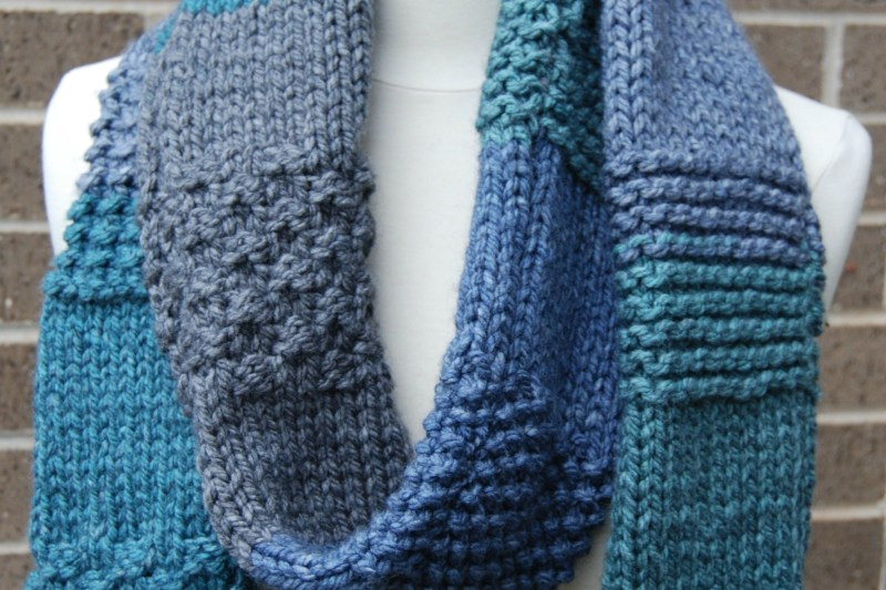 Knit Sampler Scarf – Free Knit Pattern