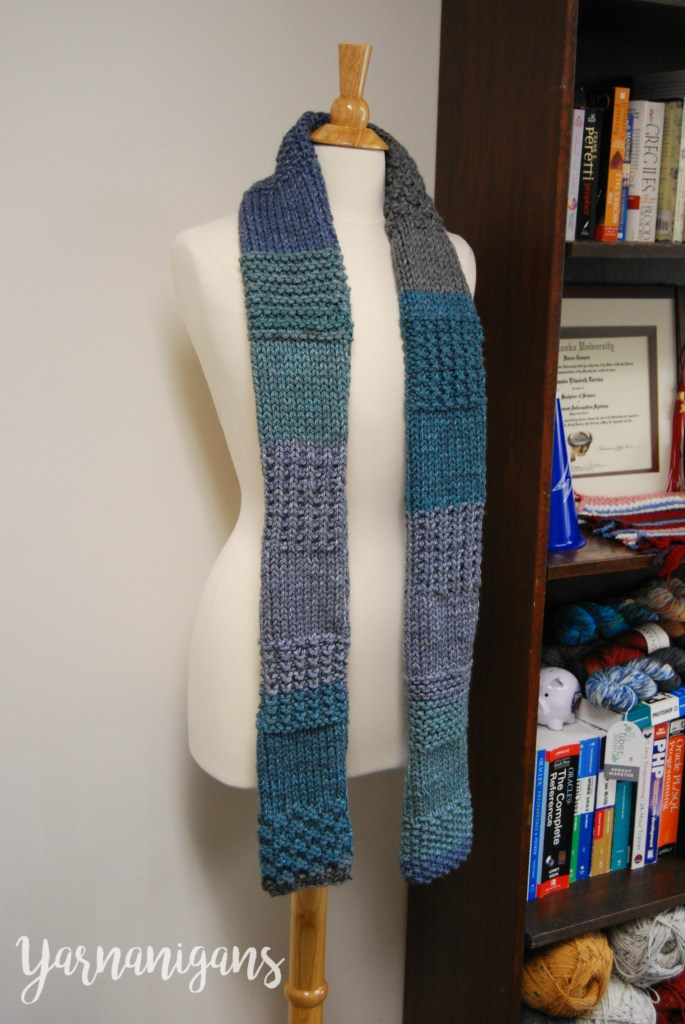 knit sampler scarf